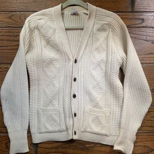 Vintage White Button-Up Cardigan